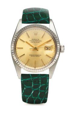 Foundwell Vintage Timepieces Rolex Oyster Perpetual DateJust Gold Face Watch