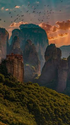 Witnessing the beauty of Meteora, Greece. ------ One place I could return to again and again is Meteora. The way the formations sculpt the landscape is simply stunning. Places Around The World, Travel Around The World, Around The Worlds, Nature Architecture, Places To Travel, Places To Visit, Greece Travel, Beautiful Landscapes, Wonders Of The World