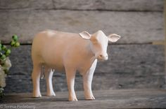 Clay cow sculpture by Teresa Perleberg