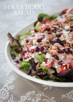 boxwood clippings_strawberry salad    candied pecans + homemade dressing