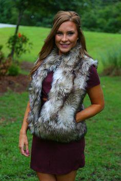 Just A Dream Fur Vest: Tan - Off the Racks Boutique