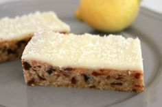 Lemon & Date Slice is such a classic recipe. and is absolutely delicious! A delicious date filled base covered in tangy lemon icing. Sweets Recipes, Baking Recipes, Cake Recipes, Snack Recipes, Lemon Recipes, Snacks, Brownie Recipes, Diet Recipes, Cake Bars
