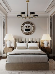 Trendy bedroom hotel classic home Master Bedroom Design, Home Decor Bedroom, Bedroom Designs, Luxury Master Bedroom, Hotel Bedroom Design, Bedroom Ideas, Glam Bedroom, Bedroom Interiors, Hotel Interiors