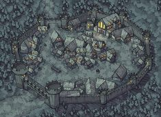 Dungeon Mapster is creating maps for pathfinder, tabletop games, and dungeons and dragons Fantasy Map Making, Fantasy City Map, Fantasy Village, Fantasy Town, Fantasy World Map, Fantasy Castle, Fantasy Rpg, Dungeons And Dragons, Village Map
