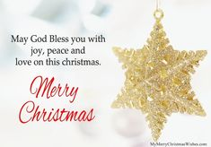 May God Bless You with Joy, Peace and Love on This Christmas. #christmas #blessings #merrychristmas #wishes #quotes #star #picture #images #messages #text #xmas #xmaswishes