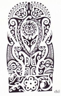 Tatuagem maori de sol