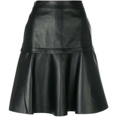 Neil Barrett pleated A-line skirt ($1,350) ❤ liked on Polyvore featuring skirts, black, high waisted skirts, knee length a line skirt, pleated skirt, a-line skirts and high waisted pleated skirt