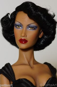 VINTAGE BOB #15 black doll wig New Sybarites V1 V2 V3 Fugu Inque Numina by Patta