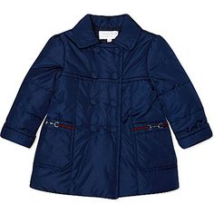 GUCCI Padded Pea coat 3-36 months (Navy
