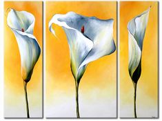 Cuadro moderno Calas claras 34840 Abstract Art Painting, Flower Painting, Art Painting, Amazing Art Painting, Acrylic Painting Flowers, Art Painting Acrylic, Lily Painting, Canvas Painting, Long Painting