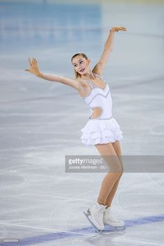 Cassandra Johansson of Sweden competes during the junior ladies free skating on day two of the ISU Junior Grand Prix of Figure Skating on August 26, 2016 in Saint-Gervais-les-Bains, France.