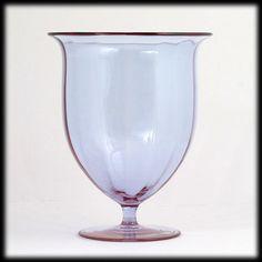Moser Art Glass Alexandrite Neodymium Vase Signed Bohemian Crystal