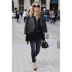 In A Rebecca Minkoff Jacket - Leaving Alexis Mabille's Haute Couture Fall 2016 show in Paris, France