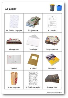 The sorting game: paper Sorting Games, French Worksheets, Home Learning, Edd, Science And Nature, Recycling, Coding, Teaching, Activities