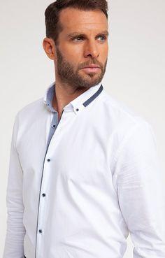 Plain White Shirt, White Shirts, Mens Designer Shirts, Photo Studio, Chef Jackets, Shirt Designs, Design Inspiration, School, Fashion