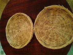 Set of 4 Wicker Paper Plate Holders Vintage by DivaSellerBoutique