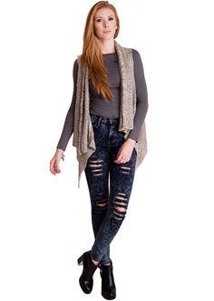 Fish-Tail Knit Cascading Cardigan #fishtail #knit #cascade #cardigan #winterfashion #springfashion
