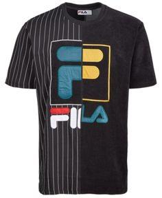 31a2cab8d Fila Men's Aiden Logo T-Shirt - Black XL Cool T Shirts, Fashion Clothes
