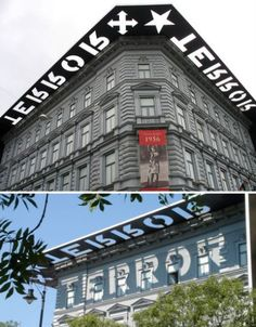 shadow exterior signage designed for the House of Terror Museum in Budapest by A+Z Designs, is to remember the victims.  I love the sign /message / art.