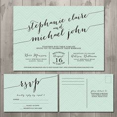wedding invitation rsvp card postcard style - Google Search