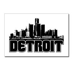 detroit cartoon skyline - Google Search