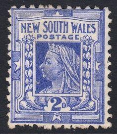New South Wales QV 2d SG# 302, Australia
