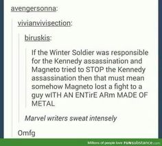 BAD MARVEL ! Go stand in the corner and think about what you just did !