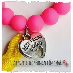 Best Friend neon stretch bracelet to benefit Fundación by MyleneV, $10.00