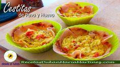 Desayuno Dukan fase Ataque y nueva dieta Dukan (Escalera Dukan):  Cestitas de Jamón y Huevo, listas en 5 minutos