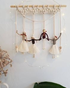 No photo description available. Handmade Ornaments, Handmade Gifts, Patio Decorating Ideas On A Budget, Indian Face, Clay Birds, Macrame Curtain, Macrame Design, Weaving Techniques, Its A Wonderful Life