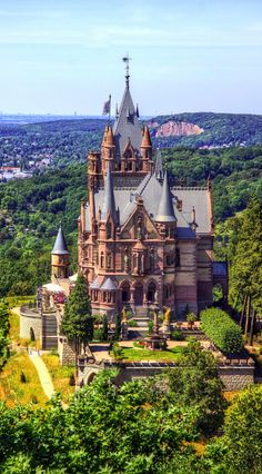 Schloss Drachenburg in Königswinter on the Rhine River near the city of Bonn…