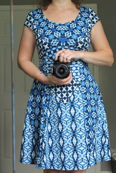 eb183eae21 In love with this Maggy London blue geometric print dress. The cut is  perfect for spring and summer. See the whole May 2016  Stitch Fix Review  from www.