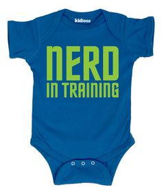 Look at this Royal Blue 'Nerd in Training' Bodysuit - Infant on #zulily today!