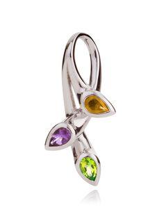 Kazo Pendant set with Citrine, Amethyst and Peridot gemstones. Shop now £95.00