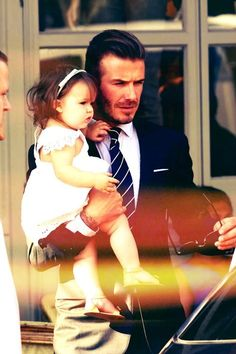 David Beckham and his daughter