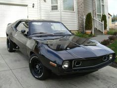 Oh baby! Blacked out AMC Javelin, it doesn't get much sexier than that!