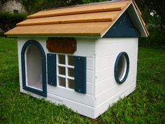 Medium Dog House by TheDetroitMadeShop on Etsy, $290.00