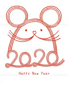 Discover recipes, home ideas, style inspiration and other ideas to try. Chinese New Year Card, Chinese New Year Crafts, Chinese New Year Decorations, New Years Decorations, Lunar New Year 2020, Happy New Year 2020, New Year Illustration, New Year Designs, New Year's Crafts
