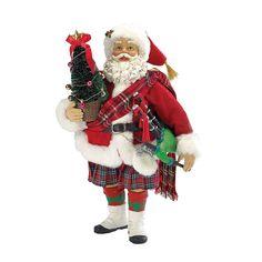 Kurt Adler 10-inch Musical Scotland Santa