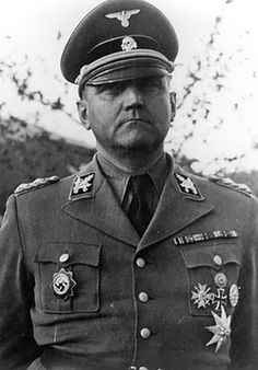 SS-Obergruppenführer und General der Waffen-SS Gottlob Berger, contemptuously dubbed 'Praise God', in an apposite pun on his first name. Berger was chief of the powerful SS Central Office from 1 April 1940 until the end of the war, and he played a major role in the expansion and development of the Waffen-SS into a multi-ethnic and multi-national military force.