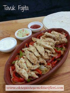 Tavuk Fajita - Oktay Usta Yemek Tarifleri. Tavuk Fajita nasıl yapılır? Oktay Usta resimli kolay pratik Tavuk Fajita Tarifi yapılışı yapımı için tıklayın.