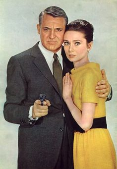 Audrey Hepburn and Cary Grant in the movie Charade