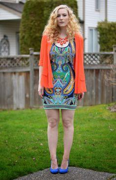 Vancouver Vogue style: Neon orange heats up this fun @KAS New York mini dress