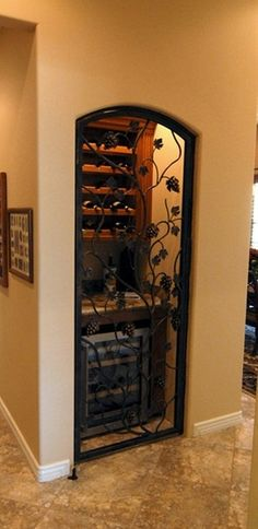 Turn a coat closet into a wine cellar -now thats a good use of closet space!!