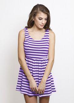 Gameday Cutout Dress | Purple