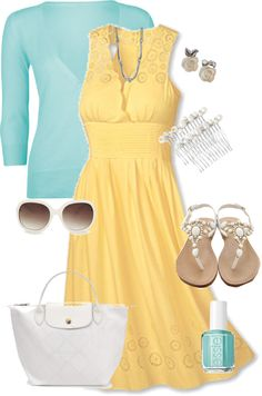 I don't like yellow, but the cut and style of the dress is really nice