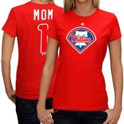 Philadelphia Phillies #1 Mom Logo T-shirt - Red