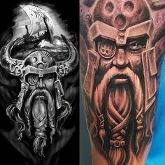 viking tattoo by Matt Parkin @ Soular Tattoo