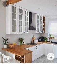 Grey Kitchen Interior, Home Interior, Interior Modern, Interior Ideas, Interior Colors, Diy Kitchen, Kitchen Decor, Kitchen Cabinets, Kitchen Ideas