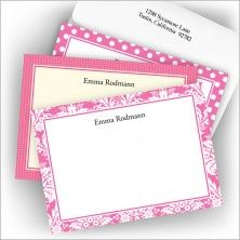 Hot Pink Textile Card Assortment - love this!